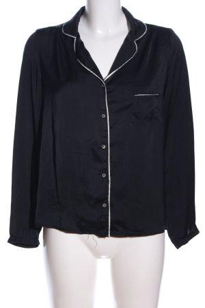 Mango Hemd-Bluse schwarz Casual-Look