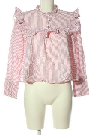 Mango Hemd-Bluse pink-weiß Streifenmuster Casual-Look