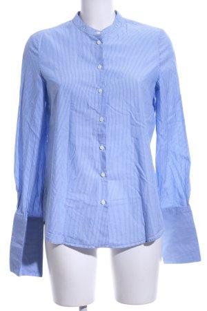 Mango Hemd-Bluse weiß-blau Streifenmuster Casual-Look