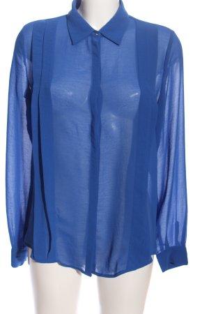 Mango Hemd-Bluse blau Business-Look