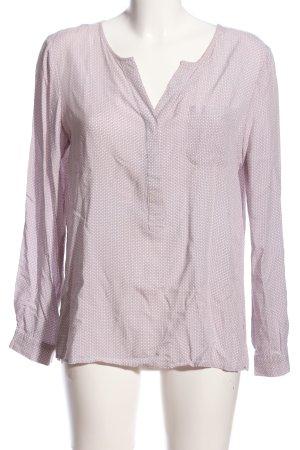 Mango Hemd-Bluse pink abstraktes Muster Business-Look