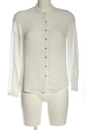 Mango Hemd-Bluse wollweiß Elegant