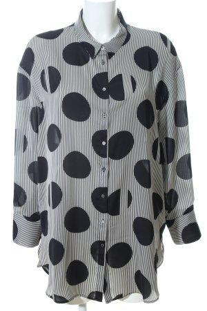 Mango Shirt Blouse black-white allover print casual look