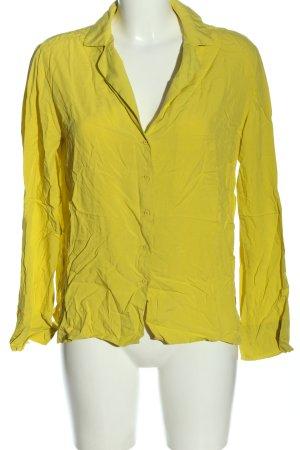 Mango Hemd-Bluse blassgelb Casual-Look