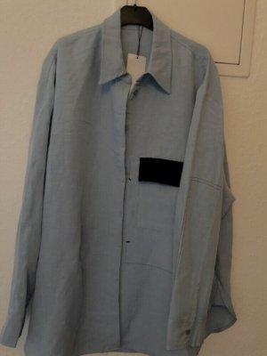 Mango Hemd Bluse gr M-L blau