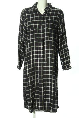 Mango Hemdblusenkleid schwarz-weiß Allover-Druck Casual-Look