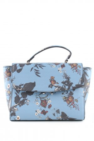 Mango Carry Bag turquoise flower pattern business style