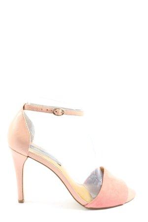 Mango Hoge hakken sandalen roze-wolwit casual uitstraling