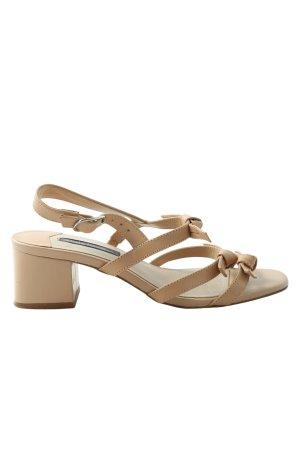 Mango High Heel Sandaletten creme Casual-Look