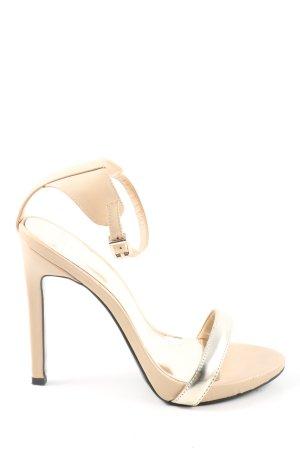 Mango High Heel Sandaletten wollweiß-silberfarben Casual-Look