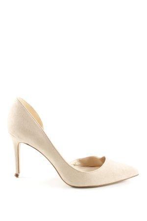 Mango High Heels creme Business-Look