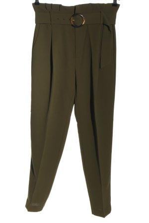 Mango High Waist Trousers khaki business style
