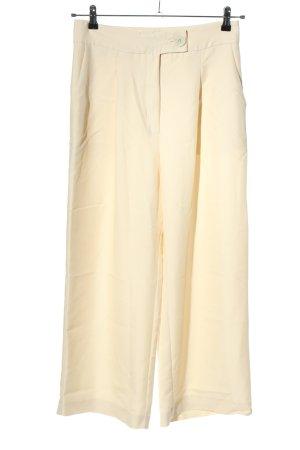Mango Pantalon taille haute crème style décontracté