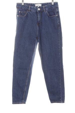 Mango Hoge taille jeans blauw simpele stijl
