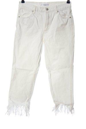 Mango High Waist Jeans weiß Casual-Look