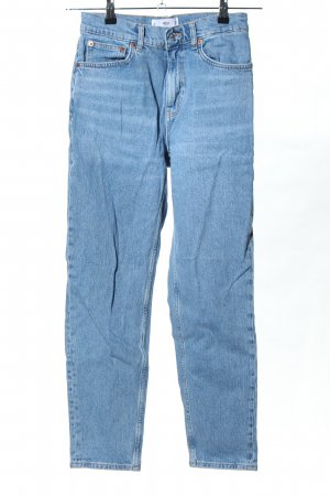 Mango Hoge taille jeans blauw casual uitstraling