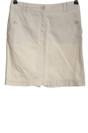 Mango High Waist Skirt cream casual look
