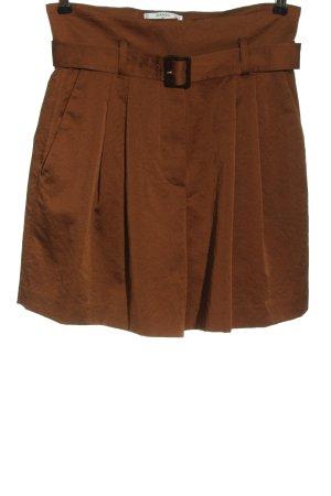 Mango High-Waist-Shorts braun Casual-Look