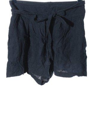 Mango High-Waist-Shorts blau Casual-Look