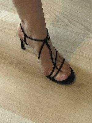 Mango Strapped High-Heeled Sandals black