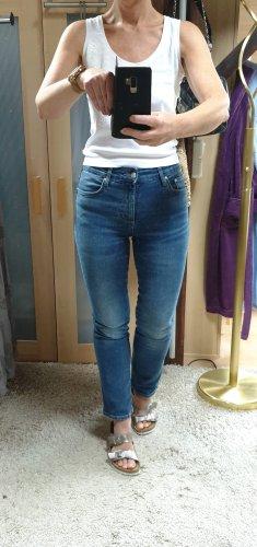 MANGO Highwaist Jeans Straight Leg Gr.36 used blau Neuwertig