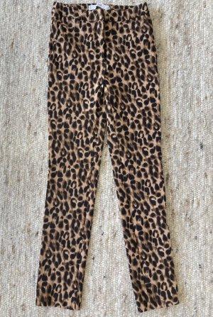 Mango Stretch broek zwart-oker