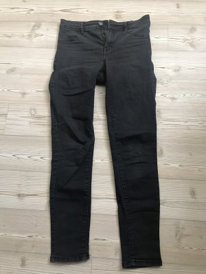 Mango Drainpipe Trousers black