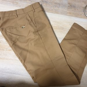 Mango Peg Top Trousers light brown