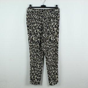 MANGO Hose Gr. M braun schwarz Leopard (20/02/129)