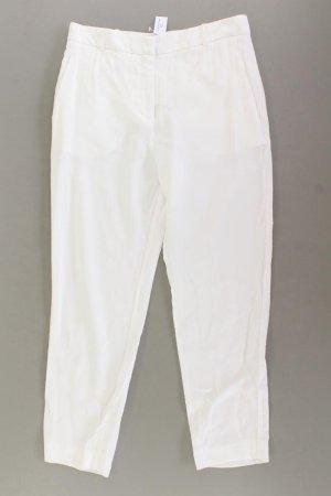 Mango Trousers natural white cotton