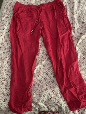 Mango Basics Pantalon en lin magenta-rose