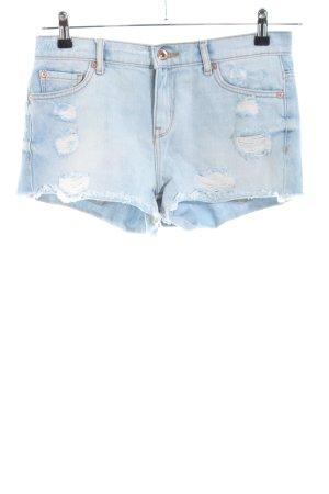 Mango Hot Pants blau Casual-Look