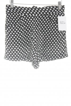 Mango Hot Pants schwarz-weiß Punktemuster Casual-Look