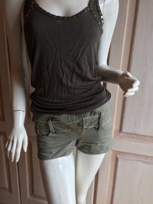 Mango Hotpants kurze Shorts grün 32