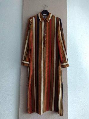 Mango hübsches gestreiftes Hemdblusenkleid aus Viskose, Grösse M