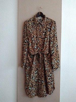 Mango Koszulowa sukienka Wielokolorowy Poliester