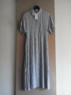 Mango Shirtwaist dress natural white-dark blue viscose