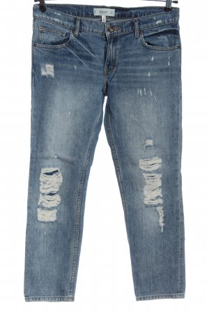 Mango Jeans taille basse bleu style décontracté