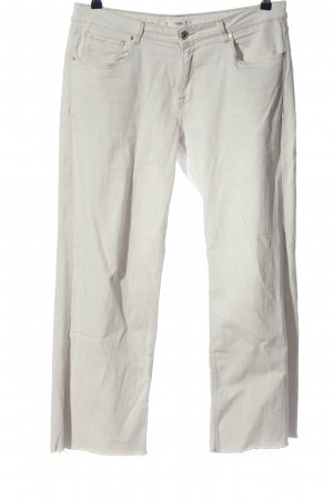 Mango Low Rise Jeans white casual look