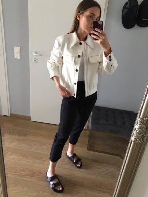 Mango Blusón negro-blanco puro