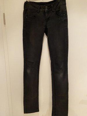 Mango Jeans taille basse noir
