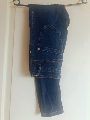Mango Hoge taille jeans donkerblauw