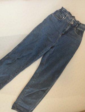 Mango Workowate jeansy niebieski