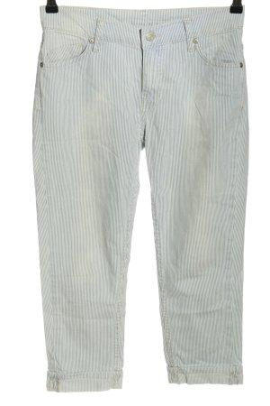 Mango Jeans 3/4 Jeans hellgrau Streifenmuster Casual-Look