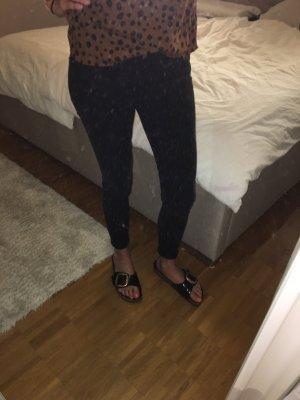 Mango Lage taille broek zwart