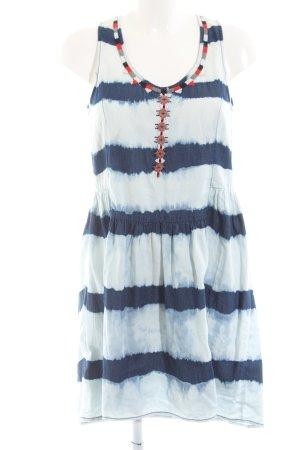 Mango Jeans A-Linien Kleid blau Streifenmuster Casual-Look
