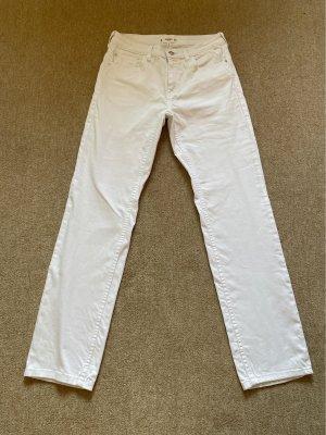 Mango Denim & Tees Jeansy z prostymi nogawkami biały