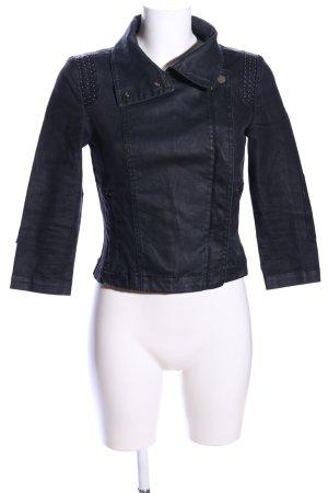 Mango Jeans Bikerjacke schwarz Casual-Look