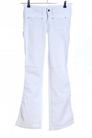 Mango Jeans Jeans svasati bianco stile casual