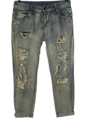 Mango Jeans Boyfriendjeans blau Casual-Look